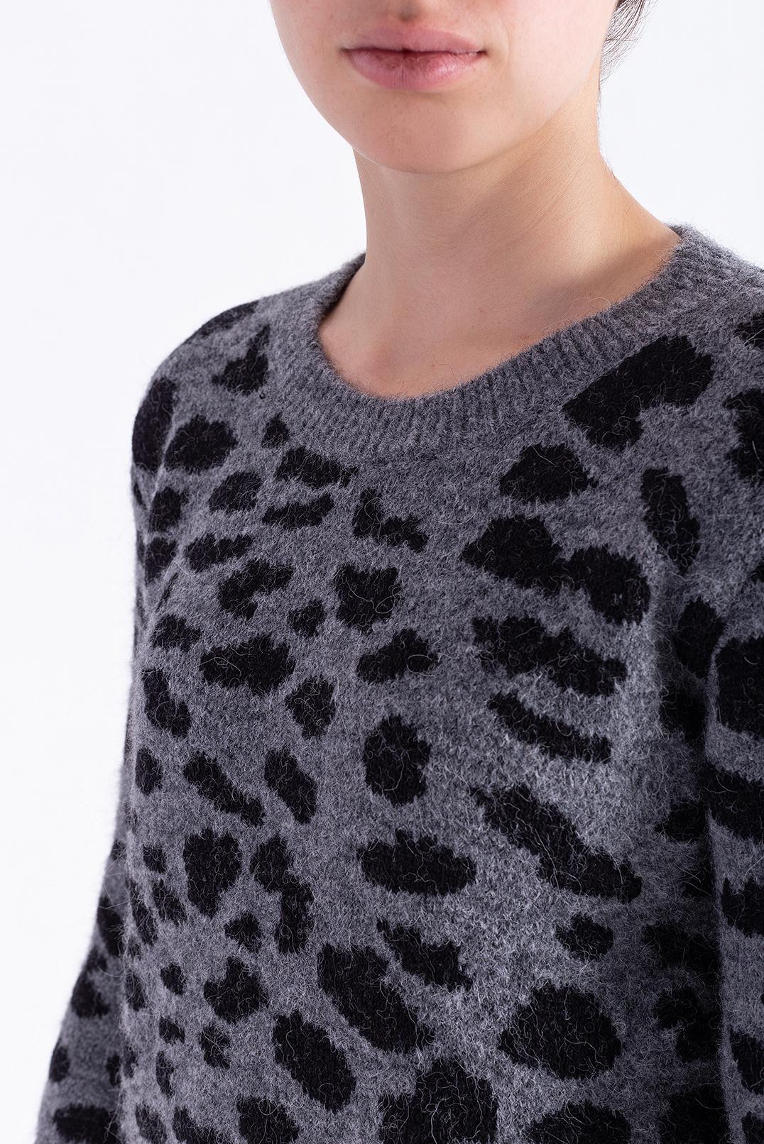 Леопардовый свитер RAIINE RAIN29006
