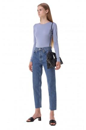RE/DONE Укороченные джинсы с эффектом потертостей