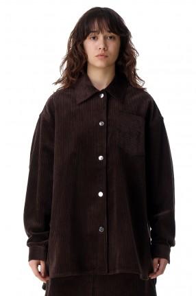 REMAIN Вельветовая рубашка oversize с логотипом