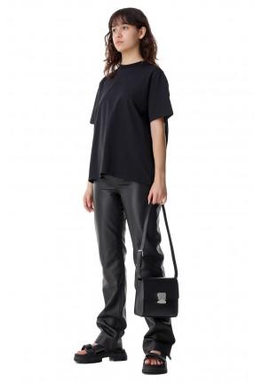 REMAIN Удлиненные кожаные брюки