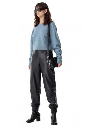 REMAIN Кожаные брюки с эластичным поясом