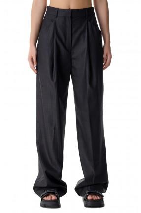 ROHE Удлиненные брюки в полоску