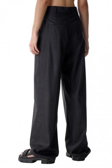 Удлиненные брюки в полоску ROHE ROH21018