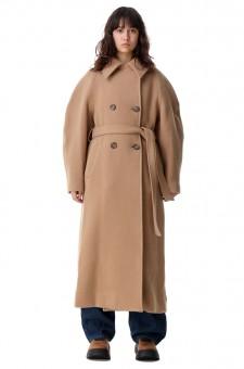 Двубортное пальто oversize