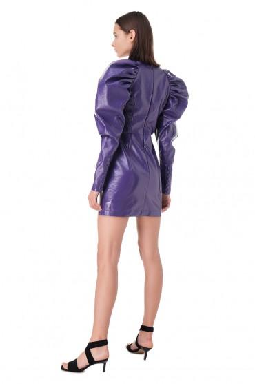 Платье из эко-кожи ROTATE ROTp11004