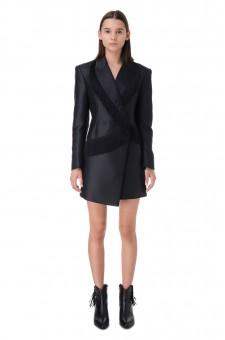 Платье-пиджак с бахромой