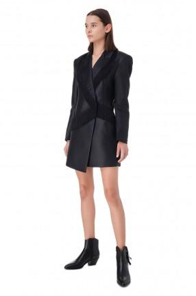 ROTATE Платье-пиджак с бахромой
