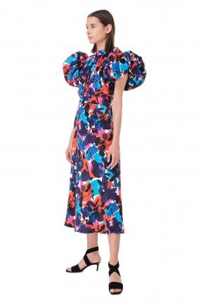 ROTATE Платье с принтом