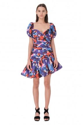 ROTATE Асимметричное платье с принтом