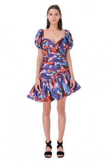 Асимметричное платье с принтом ROTATE ROTp11010
