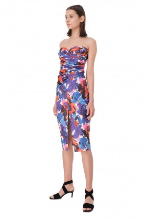 ROTATE Платье-бюстье с принтом