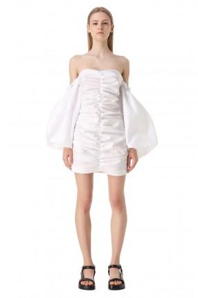ROTATE Платье-бюстье с рукавами-буфами