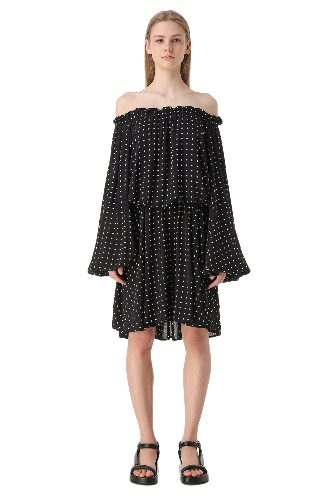 Платье в горох ROTATE ROTw11012