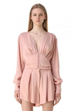 ROTATE Укороченная блуза