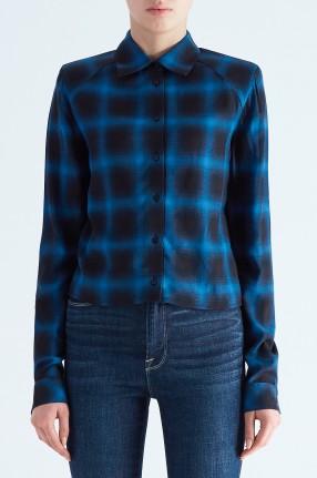 RTA Укороченная рубашка в клетку с подплечниками