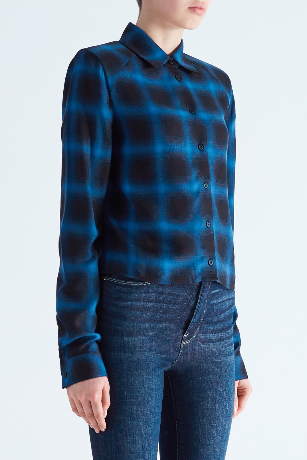 Укороченная рубашка в клетку с подплечниками RTA RTA29007