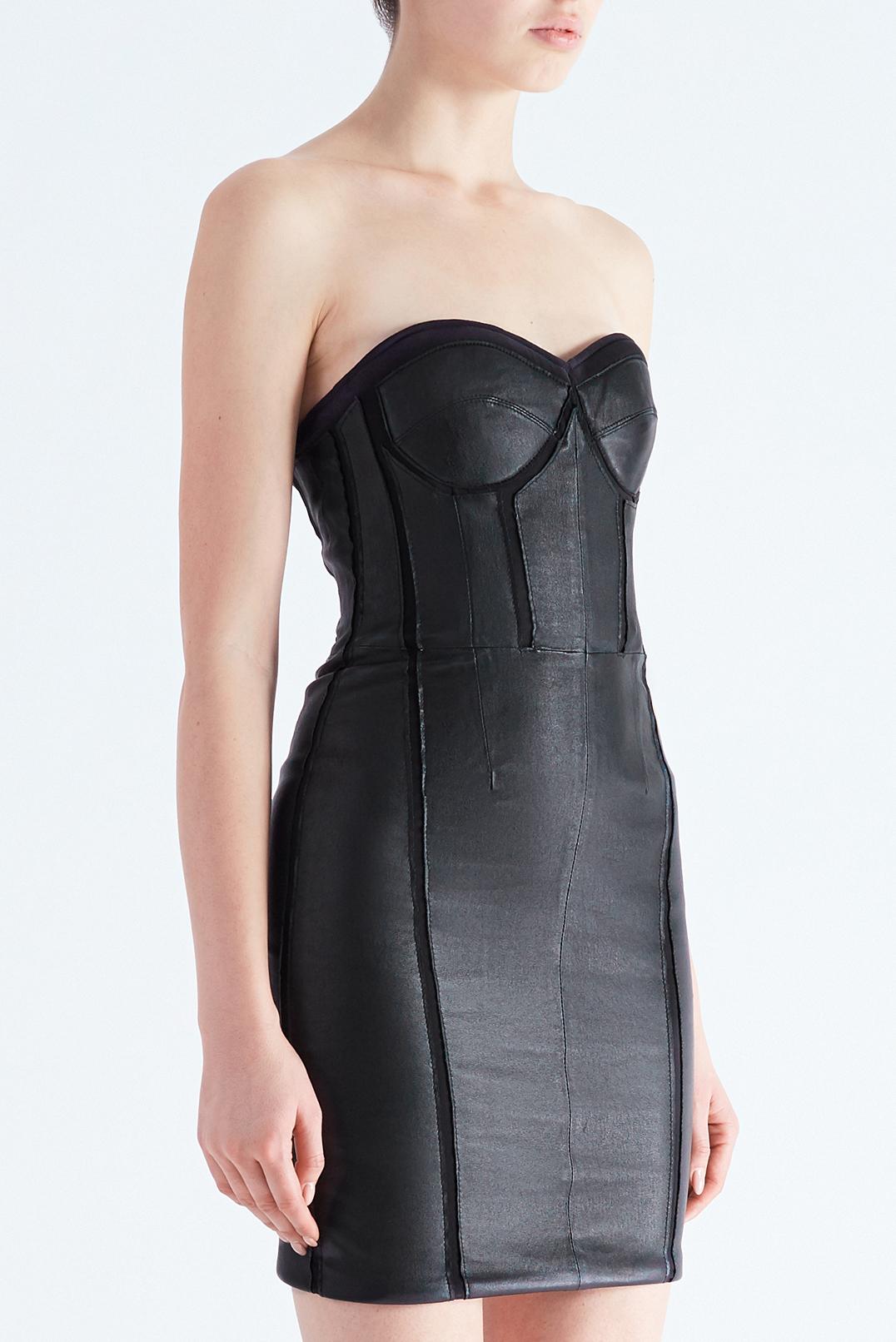 Кожаное платье бюстье RTA RTA29012