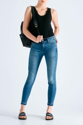 RTA Укороченные джинсы с эффектом потертостей