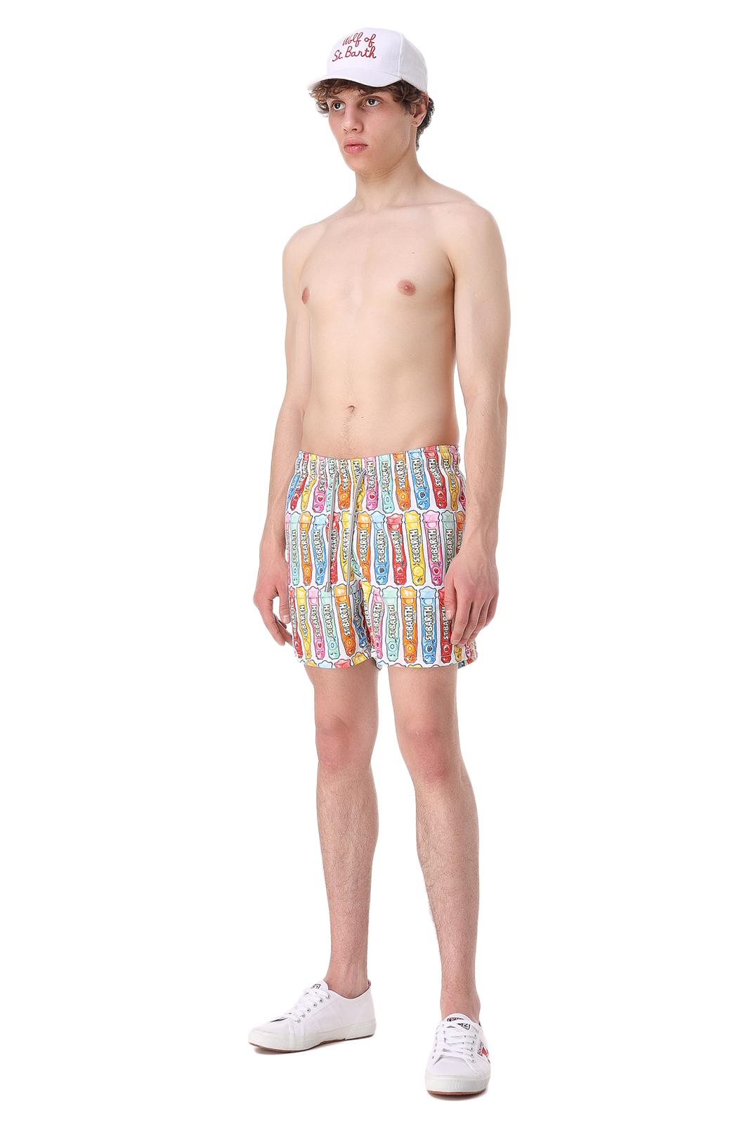 Плавательные шорты с принтом MC2 ST.BARTH STBm11059