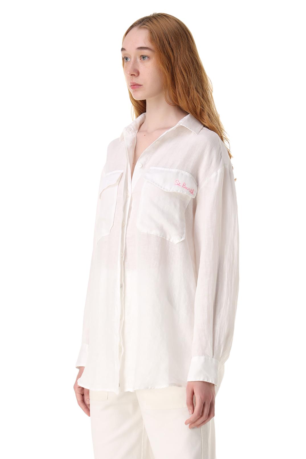 Рубашка oversize с логотипом MC2 ST.BARTH STBw11009