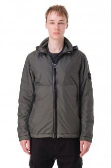 Куртка с потайным капюшоном и съемным патчем