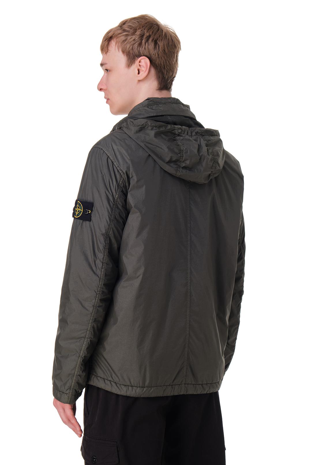 Куртка с потайным капюшоном и съемным патчем STONE ISLAND STm20010
