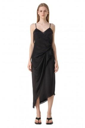 ALEXANDER WANG Асимметричное платье-комбинация