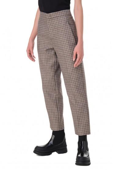 Укороченные брюки в клетку TELA TELA20004