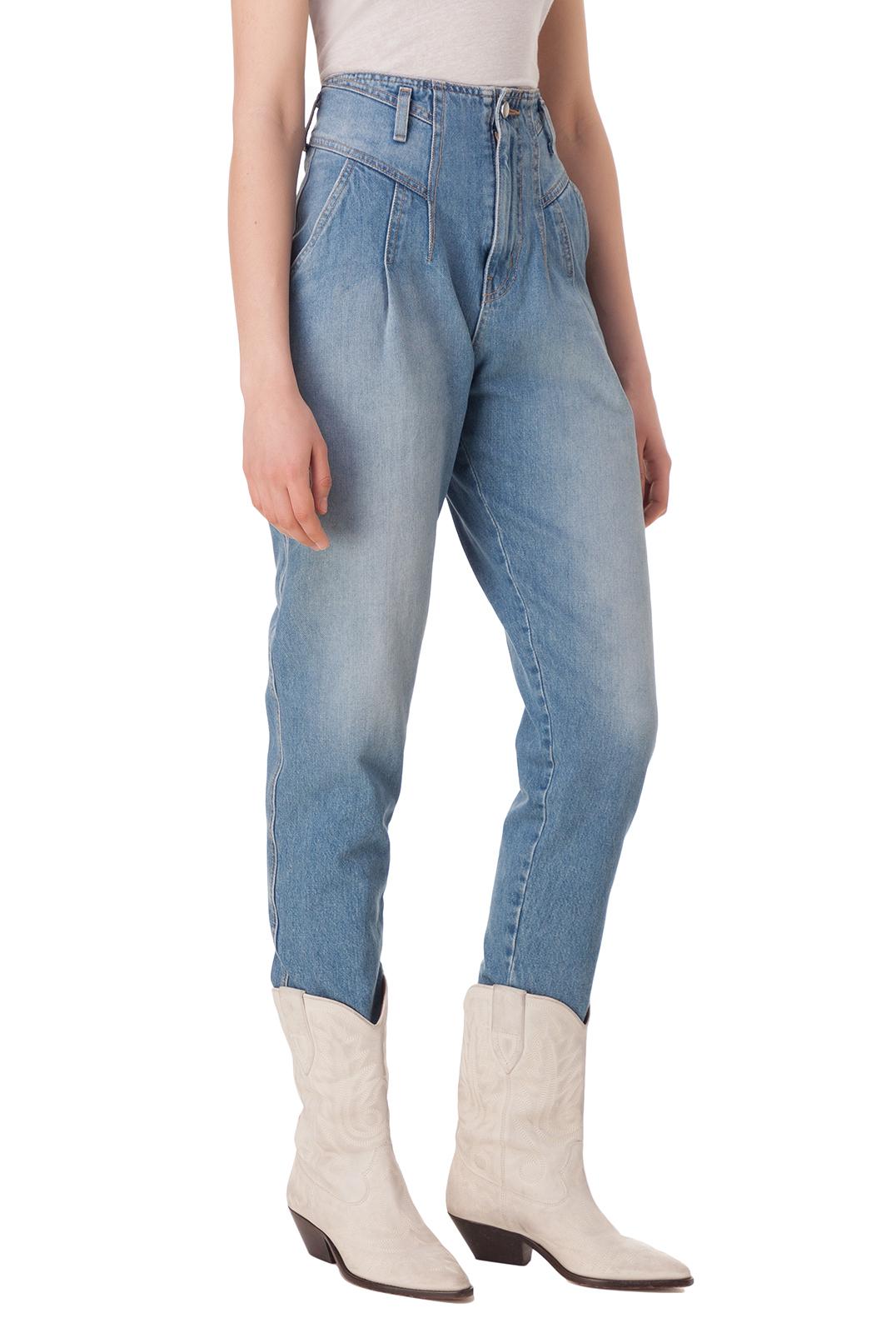 Укороченные джинсы с эффектом потертостей TRE BY NATALIE RATABESI TRE10002