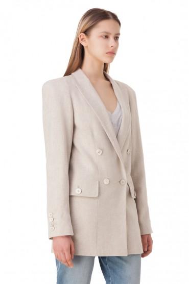 Двубортный пиджак oversize TRE BY NATALIE RATABESI TRE10006