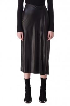 Асимметричная юбка с разрезом