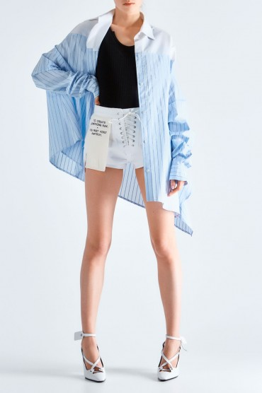Асимметричная рубашка oversize UNRAVEL PROJECT UNRp19012