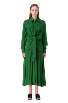 Платье-рубашка с завязками