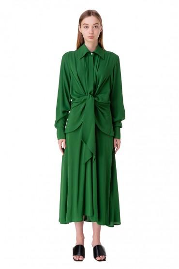 Платье-рубашка с завязками VICTORIA BECKHAM VB10002