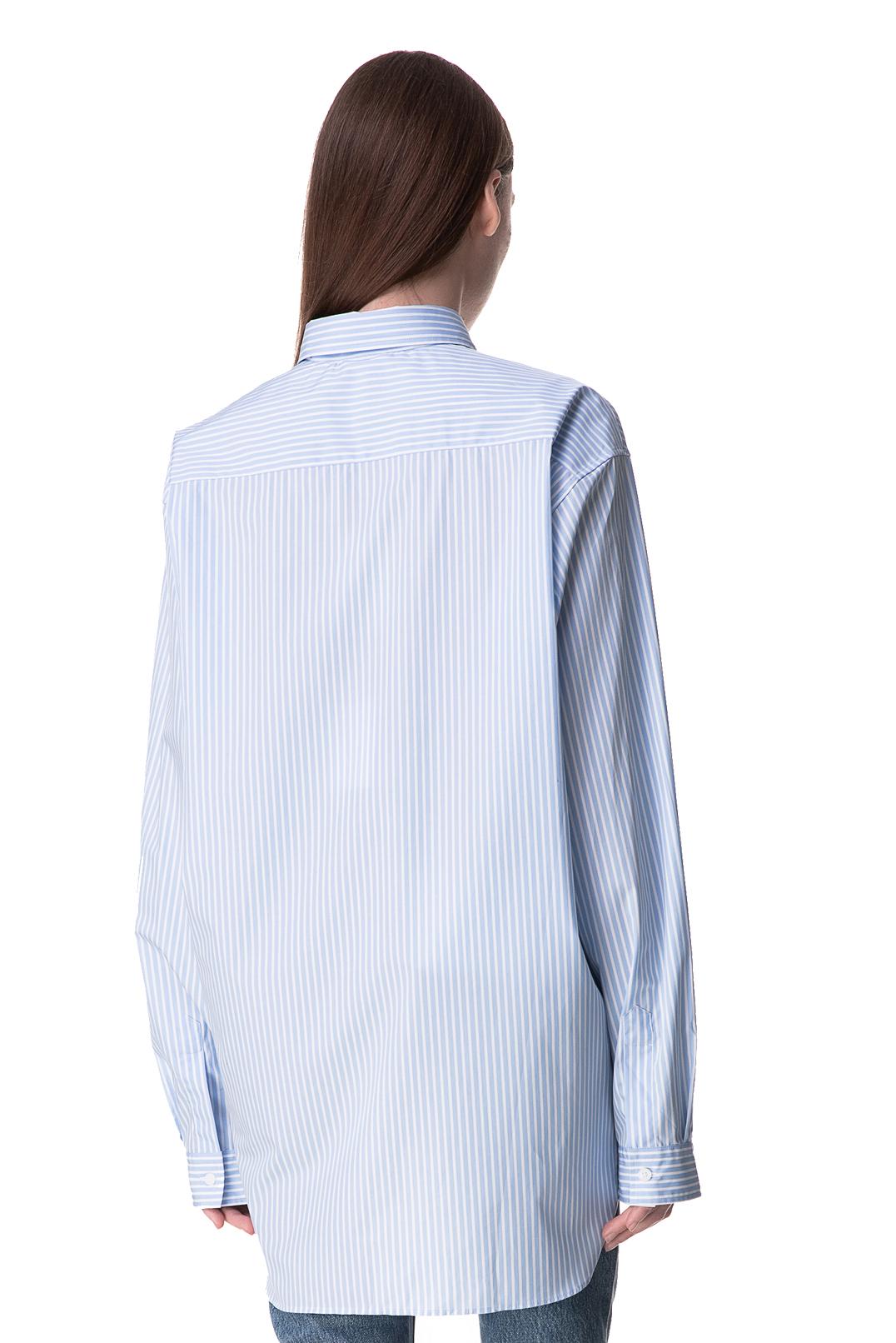 Рубашка oversize с логотипом VETEMENTS VET10029