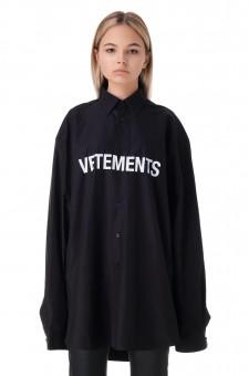 Рубашка oversize с логотипом