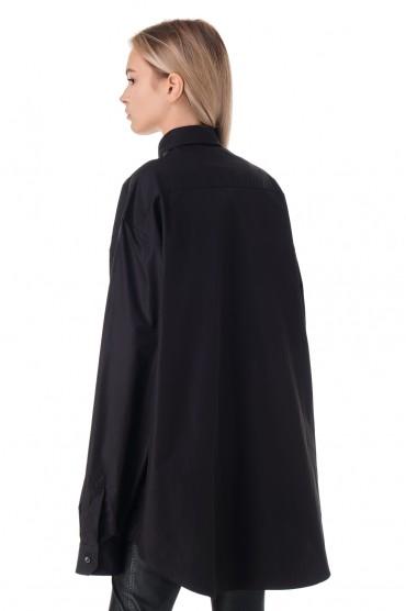 Рубашка oversize с логотипом VETEMENTS VET11001