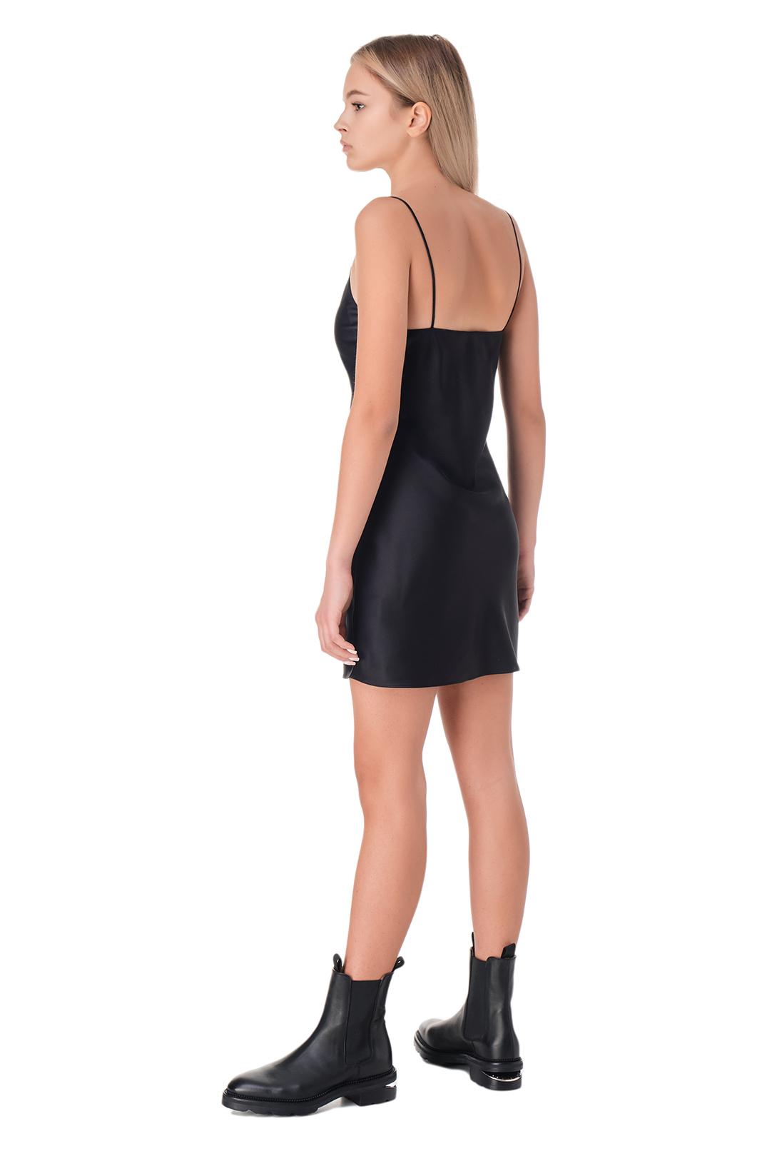Платье-комбинация с логотипом VETEMENTS VET11002