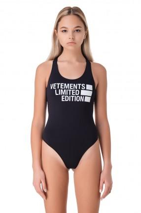 VETEMENTS Сдельный купальник с логотипом