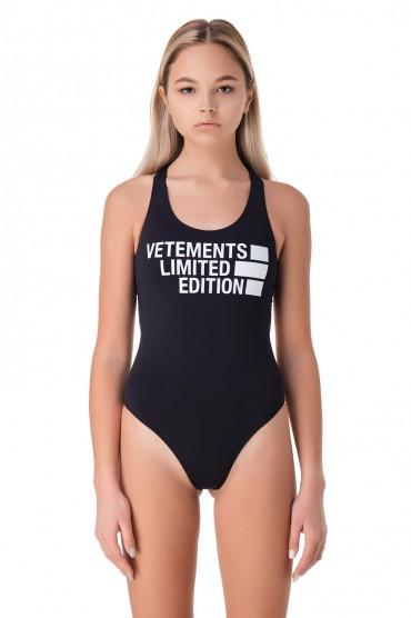 Сдельный купальник с логотипом VETEMENTS VET11003