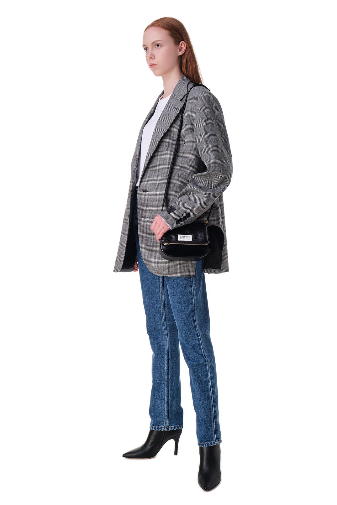 Пиджак в клетку c вырезными деталями VETEMENTS VET20016
