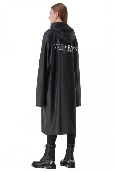 Плащ oversize с логотипом VETEMENTS VET21004