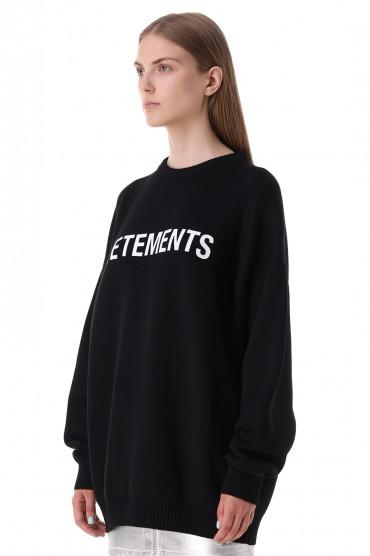 Свитер oversize с логотипом VETEMENTS VET21013
