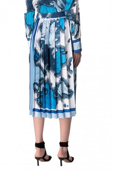 Плиссированная юбка с принтом VICTORIA VICTORIA BECKHAM VVB10012