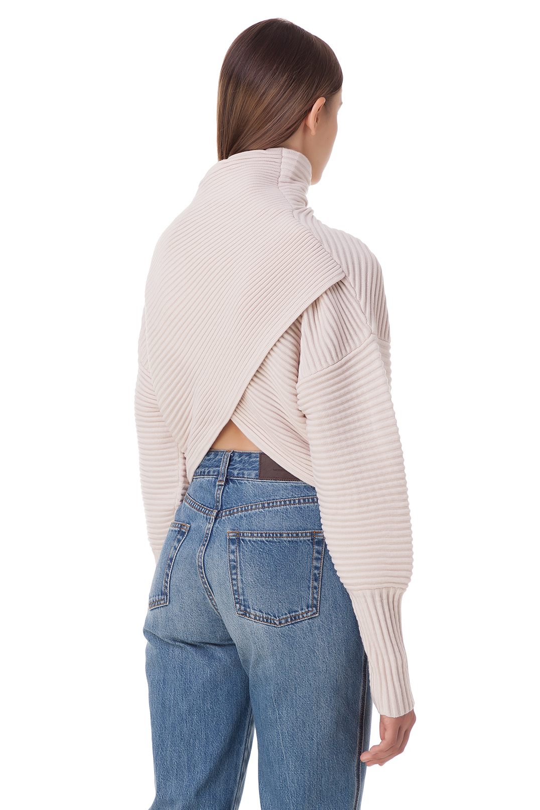 Укороченный свитер oversize VICTORIA VICTORIA BECKHAM VVB20008