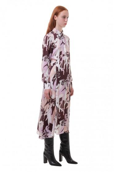 Платье с принтом VICTORIA VICTORIA BECKHAM VVB20009