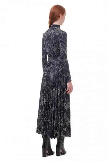 Платье с принтом VICTORIA VICTORIA BECKHAM VVB20010