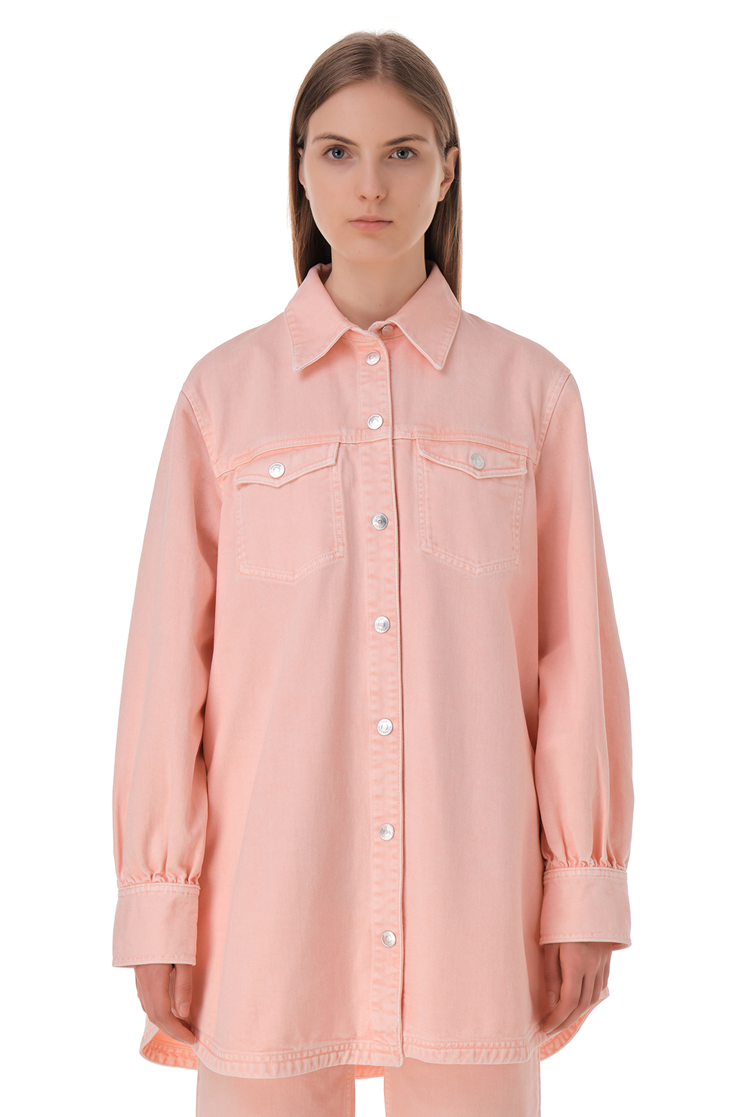 Джинсовая рубашка oversize WON HUNDRED WON11015