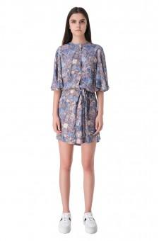 Платье с принтом и съемным поясом