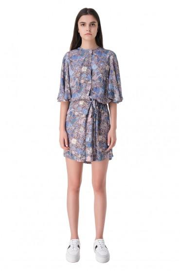 Платье с принтом и съемным поясом ZADIG&VOLTAIRE ZVw11003